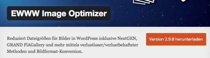 EWWW Image Optimizer für besseren PageSpeed-Score