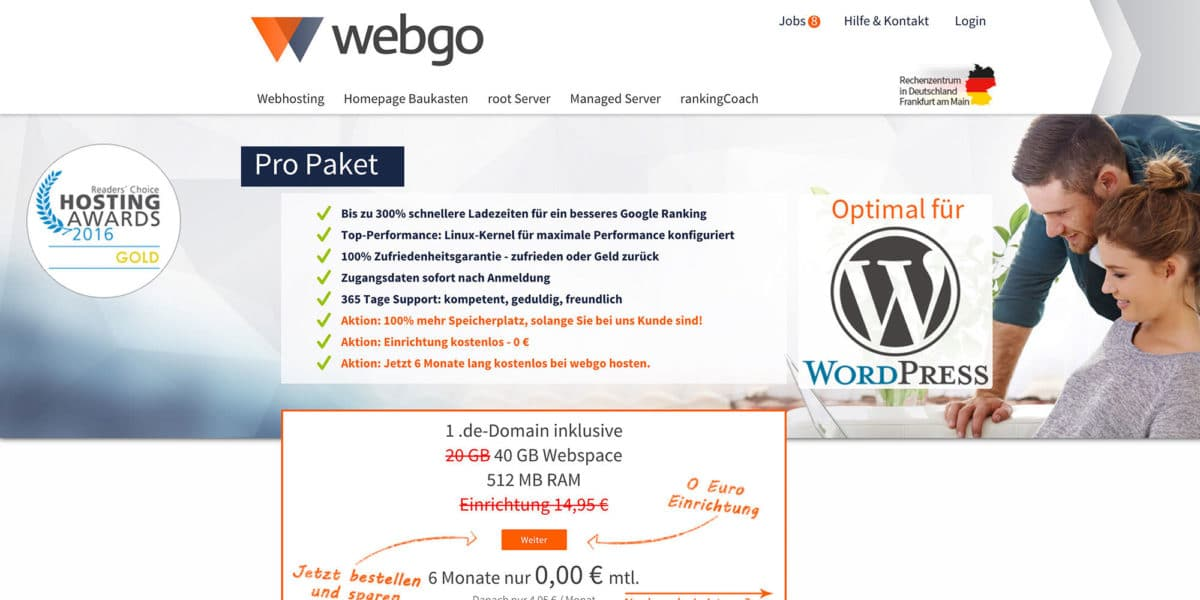 webgo WordPress-Hosting