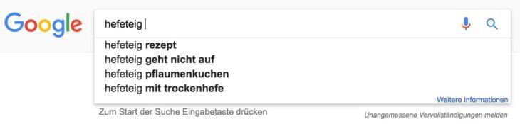 Keywords finden mit Google Autosuggest