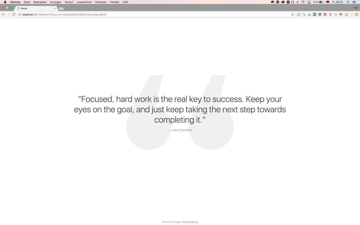 Blogartikel schneller schreiben durch die Focus-App