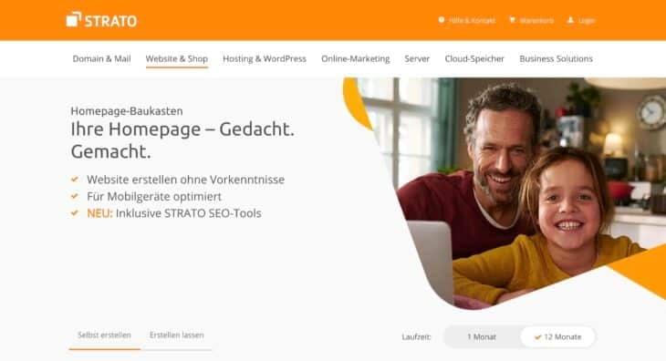 Strato Homepage-Baukasten Testergebnis im Überblick