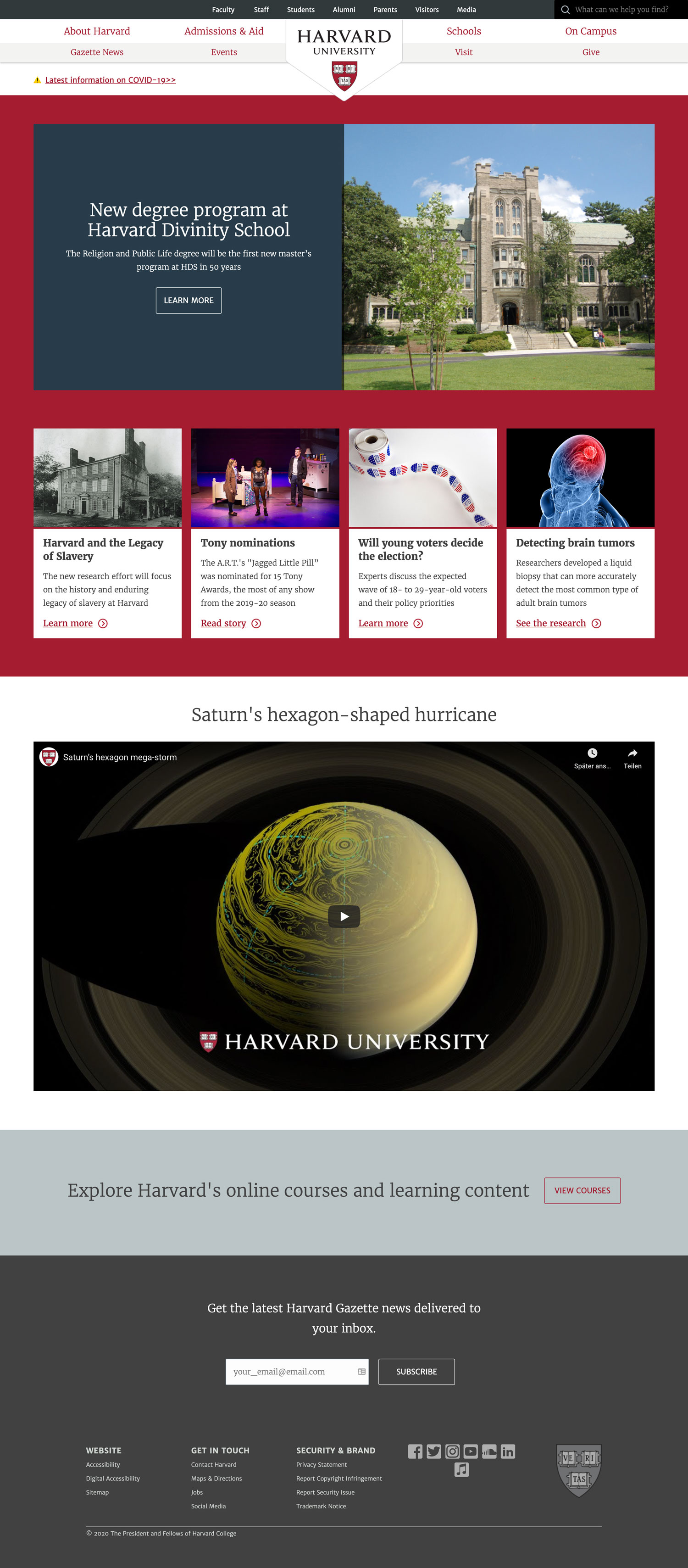 Die Harvard University vertraut auf WordPress