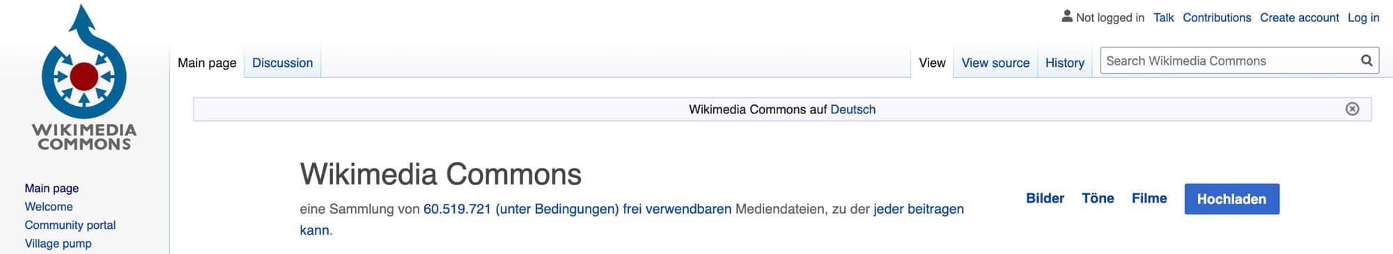 Wikimedia Commons ist die Datenbank von Wikipedia