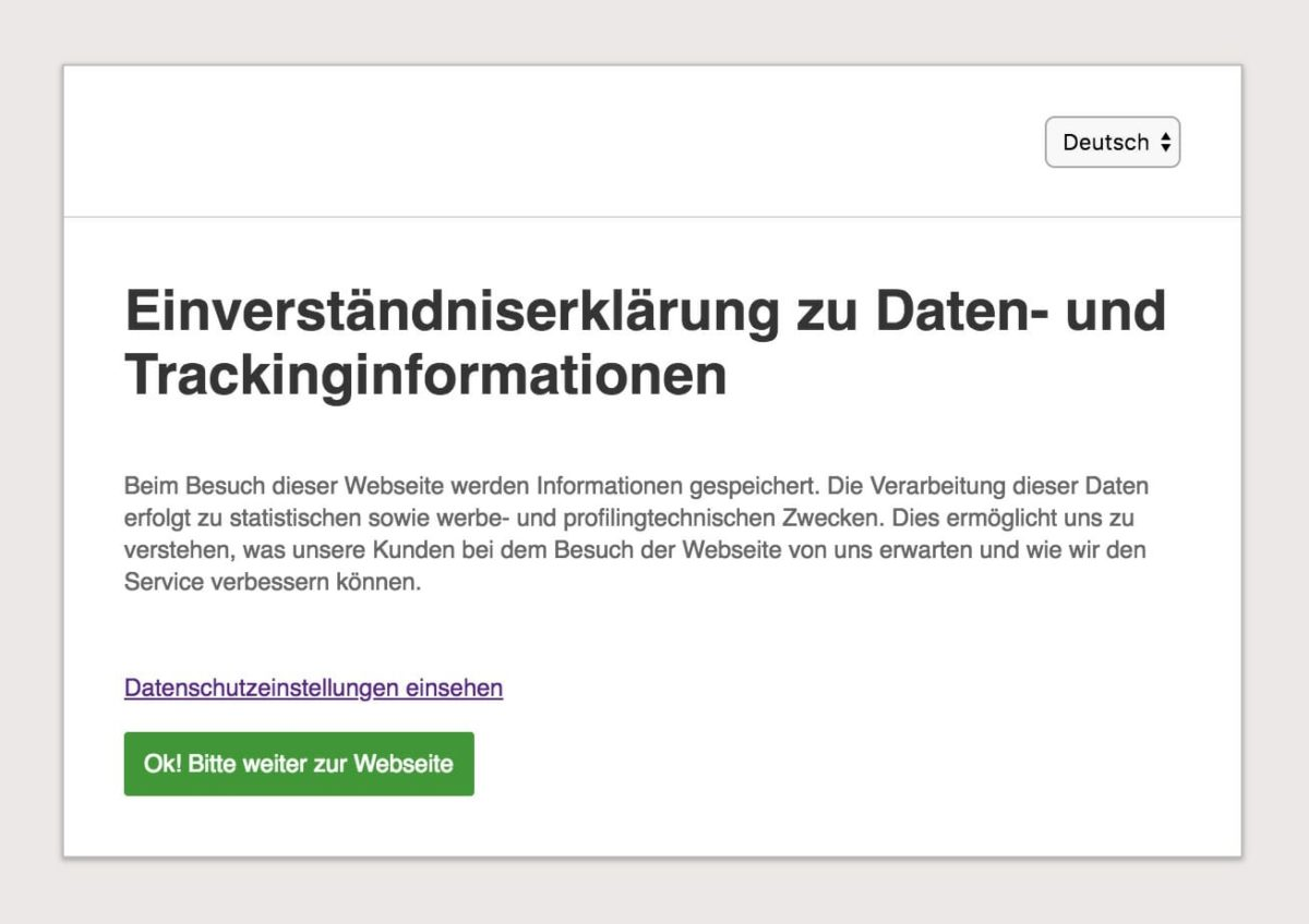 affilinet Opt-In per Consent Wizard