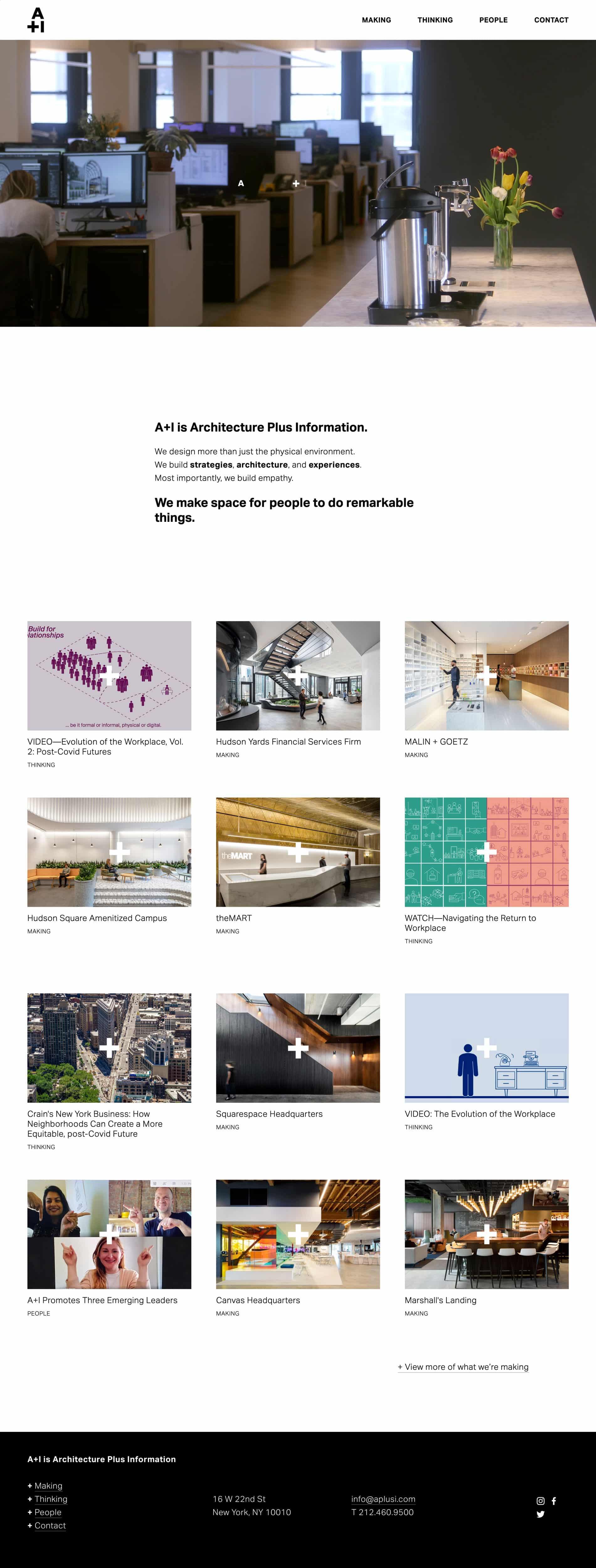 Squarespace Beispiel: A+I