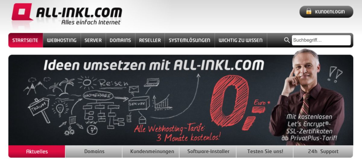 WordPress-Hosting bei all-inkl.com