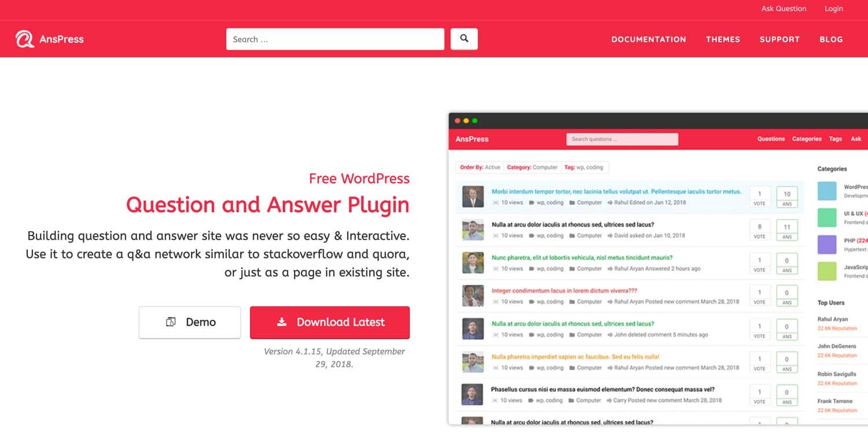 AnsPress ist ein Open-Source-Forum-Plugin, das mit einem großen Funktionsumfang begeistert