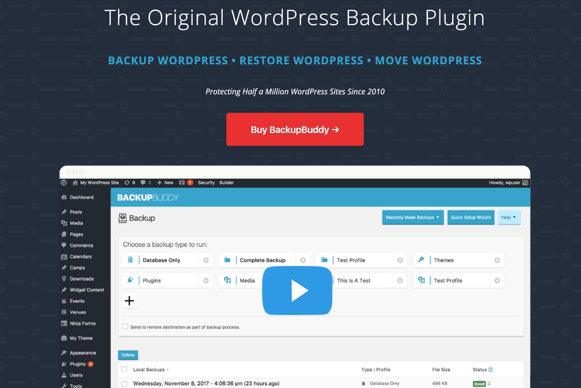 BackupBuddy ist ein sehr umfangreiches Premium Plugin für WordPress Backups