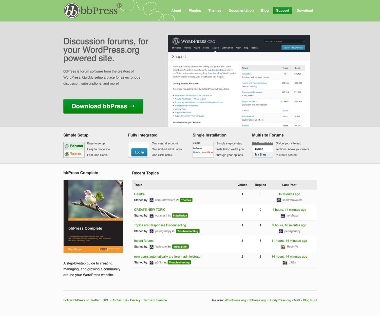 bbPress ist eines der beliebtesten WordPress Foren-Plugins