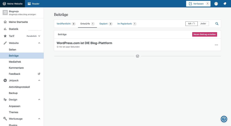 WordPress.com ist eine der besten Plattformen, wenn es um das Bloggen geht