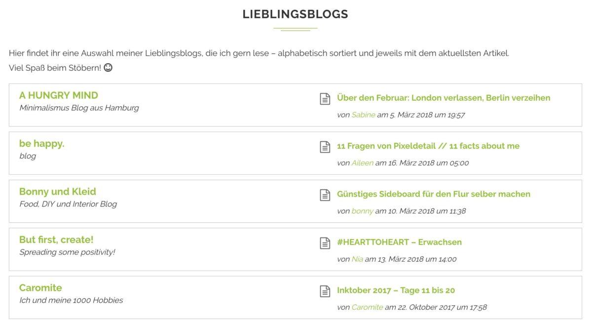 Blogroll per Plugin als Feed darstellen
