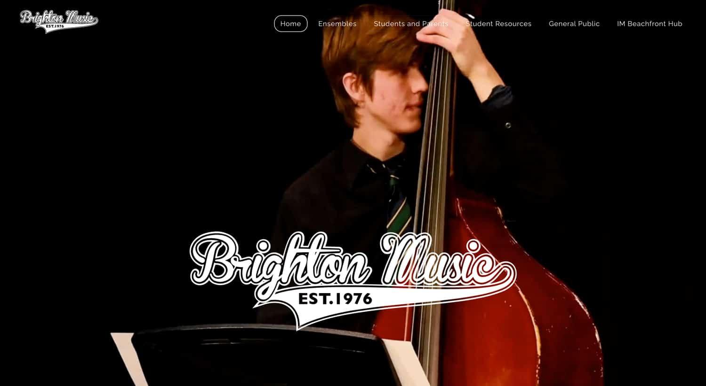 Weebly Beispiel: Brighton Music School