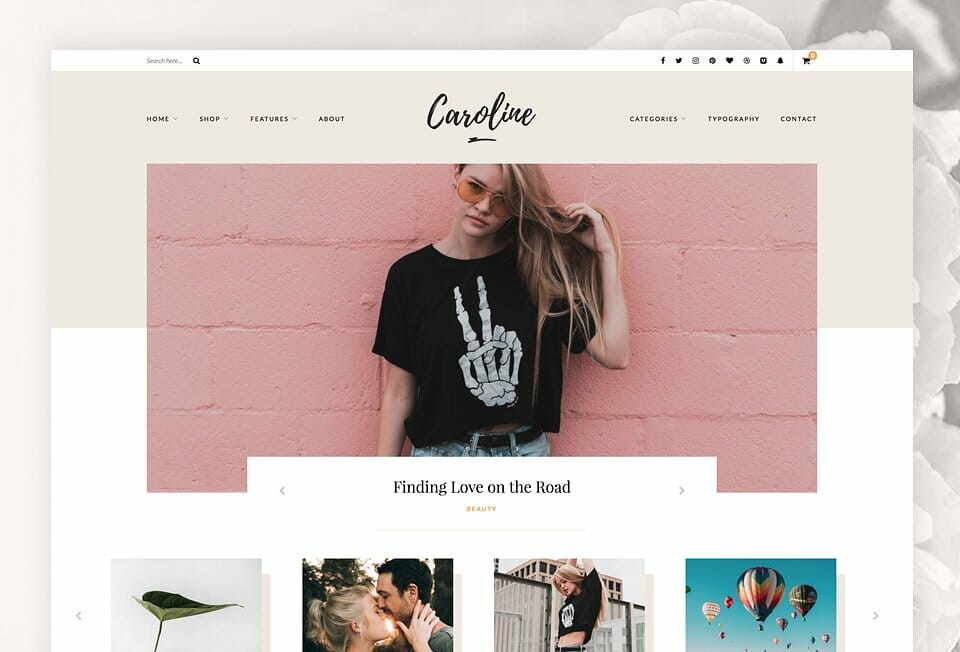 Caroline WordPress Blog-Theme