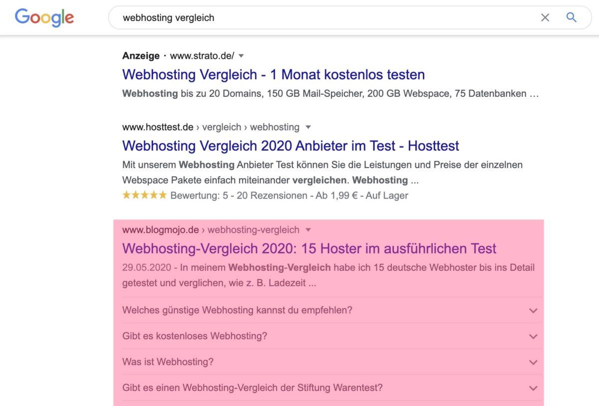 Case Study: webhosting vergleich