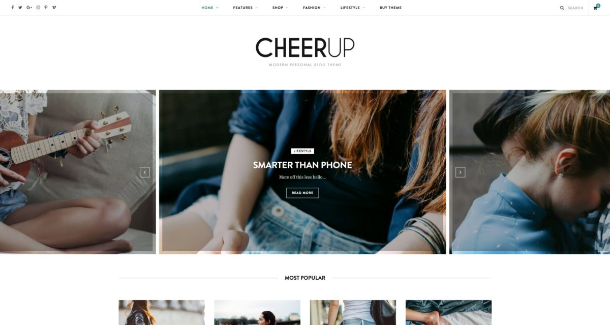 CheerUp WordPress Blog Thème
