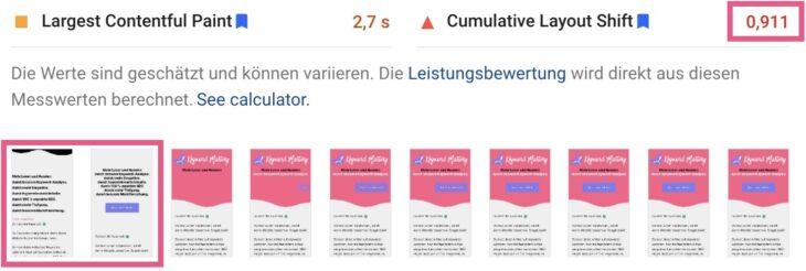 CLS ohne kritisches CSS