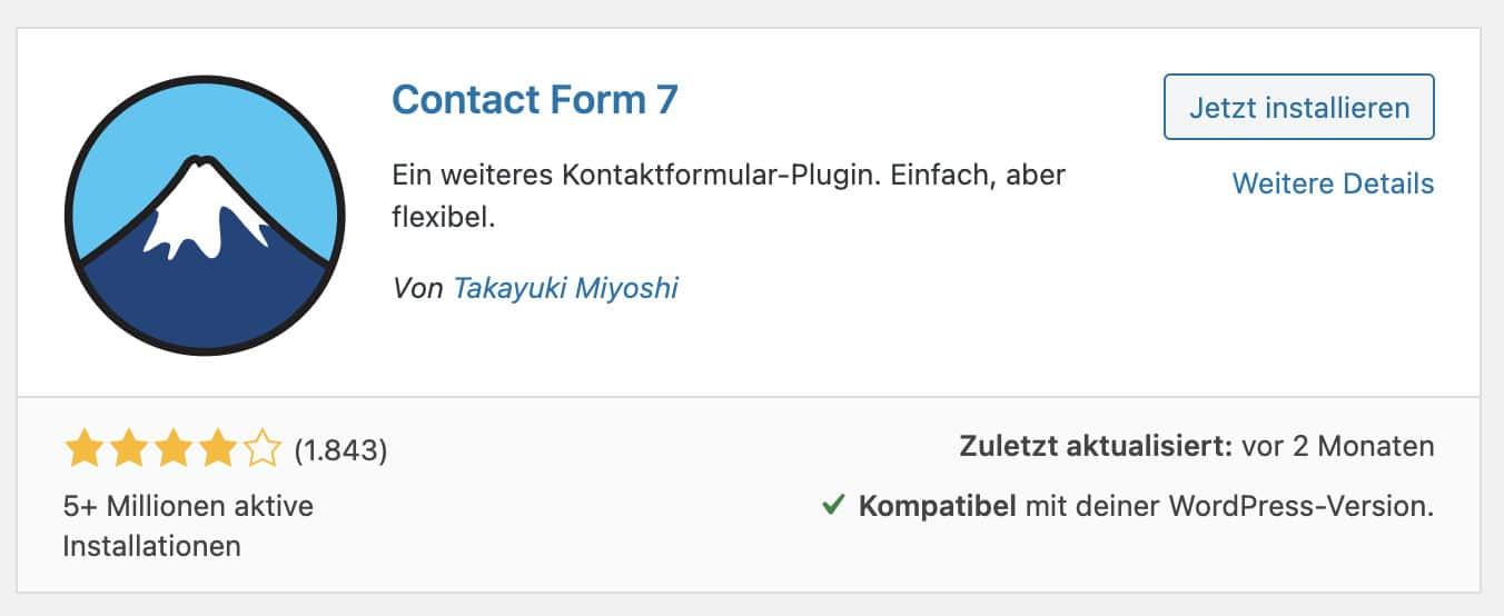 Contact Form 7 ist eine tolle Möglichkeit, um Kontaktformulare für deine Nutzer zu erstellen