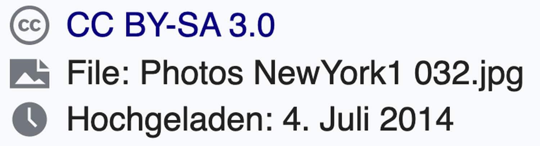 Der Creative Commons Hinweis auf Wikipedia definiert genau, was du mit einem Bild machen darfst und was nicht