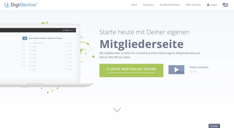 Digimember ist ein WordPress-Plugin, mit dem du einen Mitgliederbereich erstellen kannst