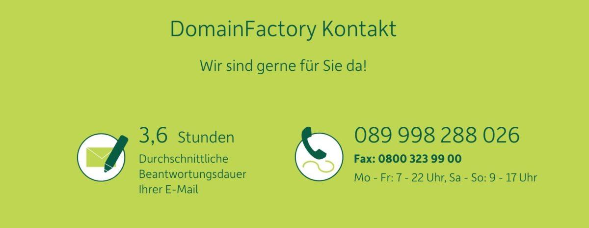 Beantwortungsdauer einer E-Mail beim DomainFactory-Support