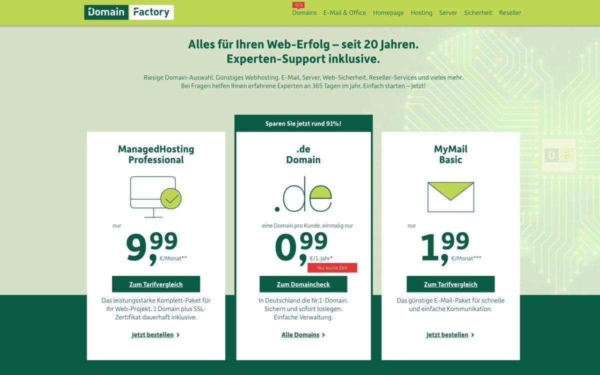 DomainFactory Webhosting
