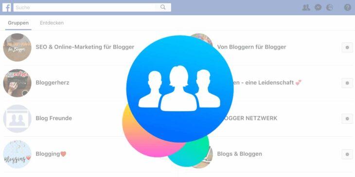 Facebook-Gruppen für Blogger