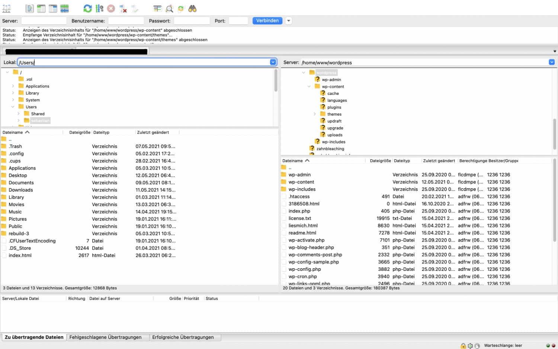 Mit FileZilla kannst du dich im Handumdrehen mit deinem Webspace verbinden.