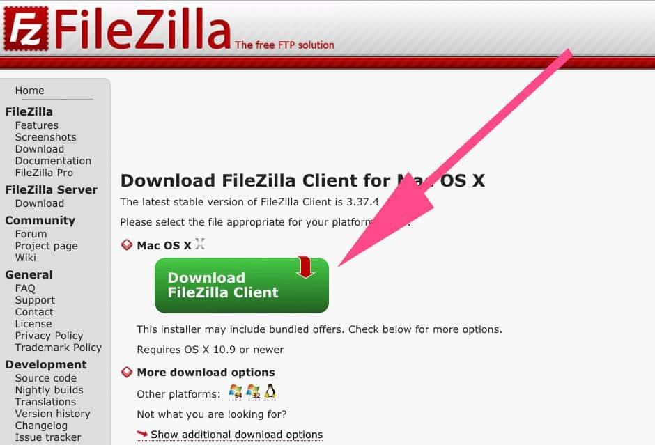 FileZilla herunterladen