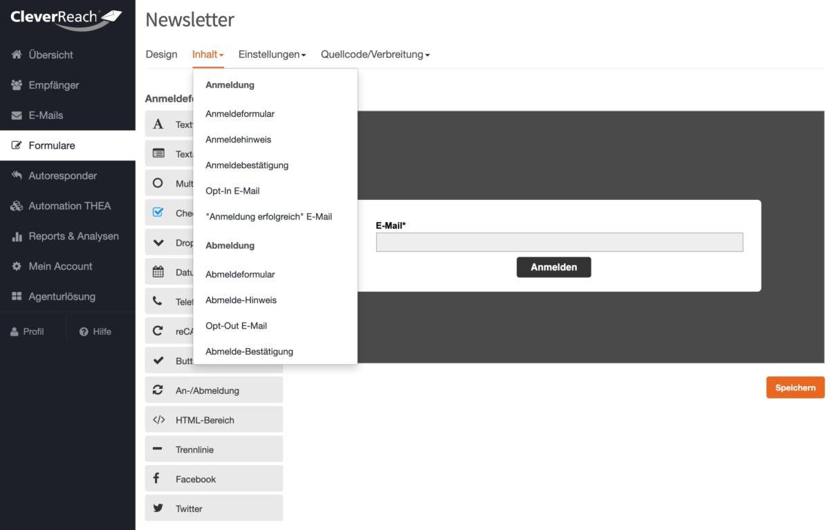 Formulare und Opt-In-Prozess bei CleverReach anpassen