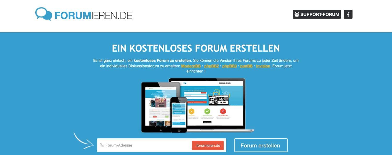 Forumieren.de ist ein deutsche Cloud Software, um ein Forum zu erstellen