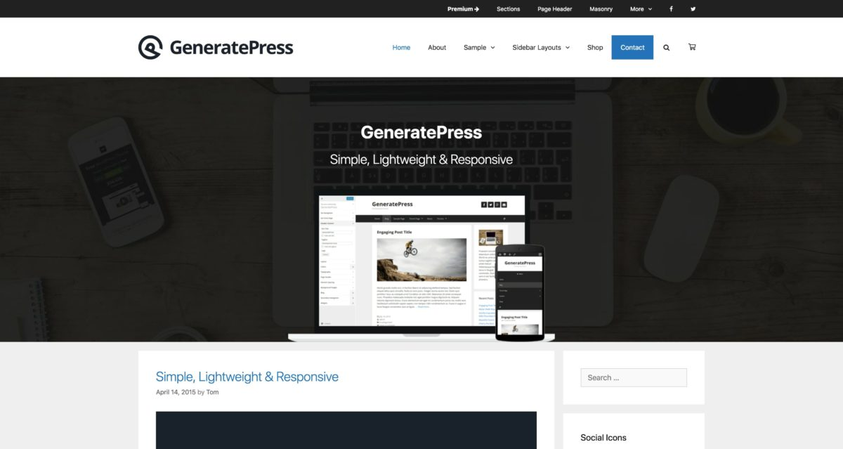 GeneratePress WordPress Theme-Framework