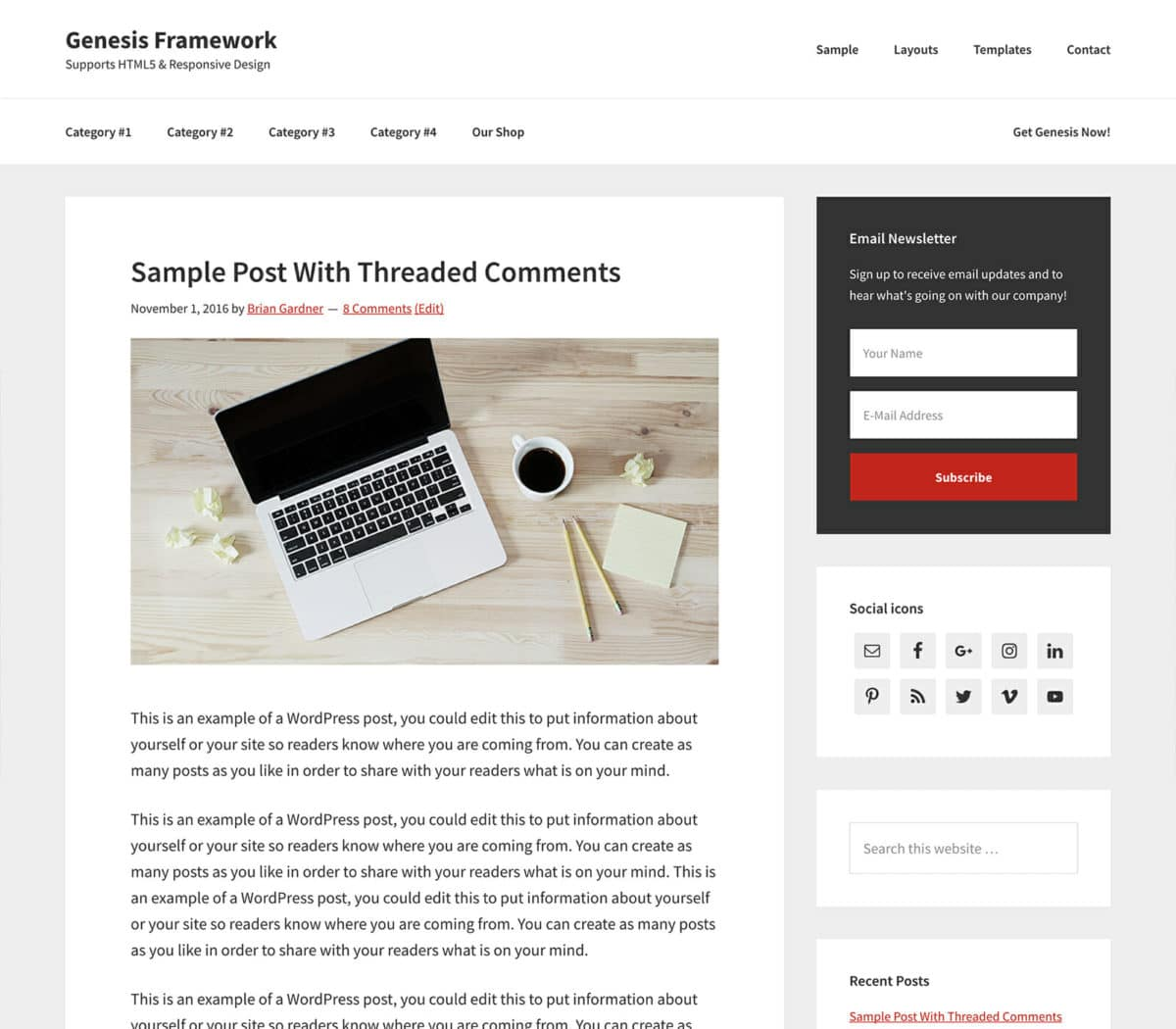 Genesis WordPress Theme-Framework
