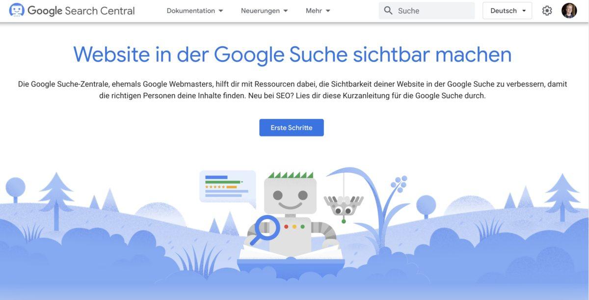 Google Search Central als Quelle für Google-Ranking-Faktoren