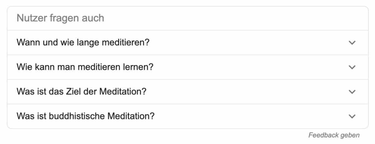 Google SERP-Feature: Nutzer fragen auch