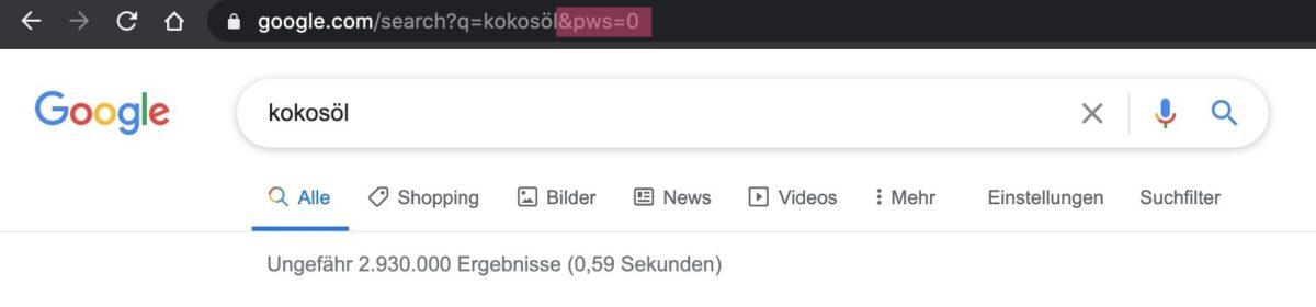 URL-Modifikatoren bei Google