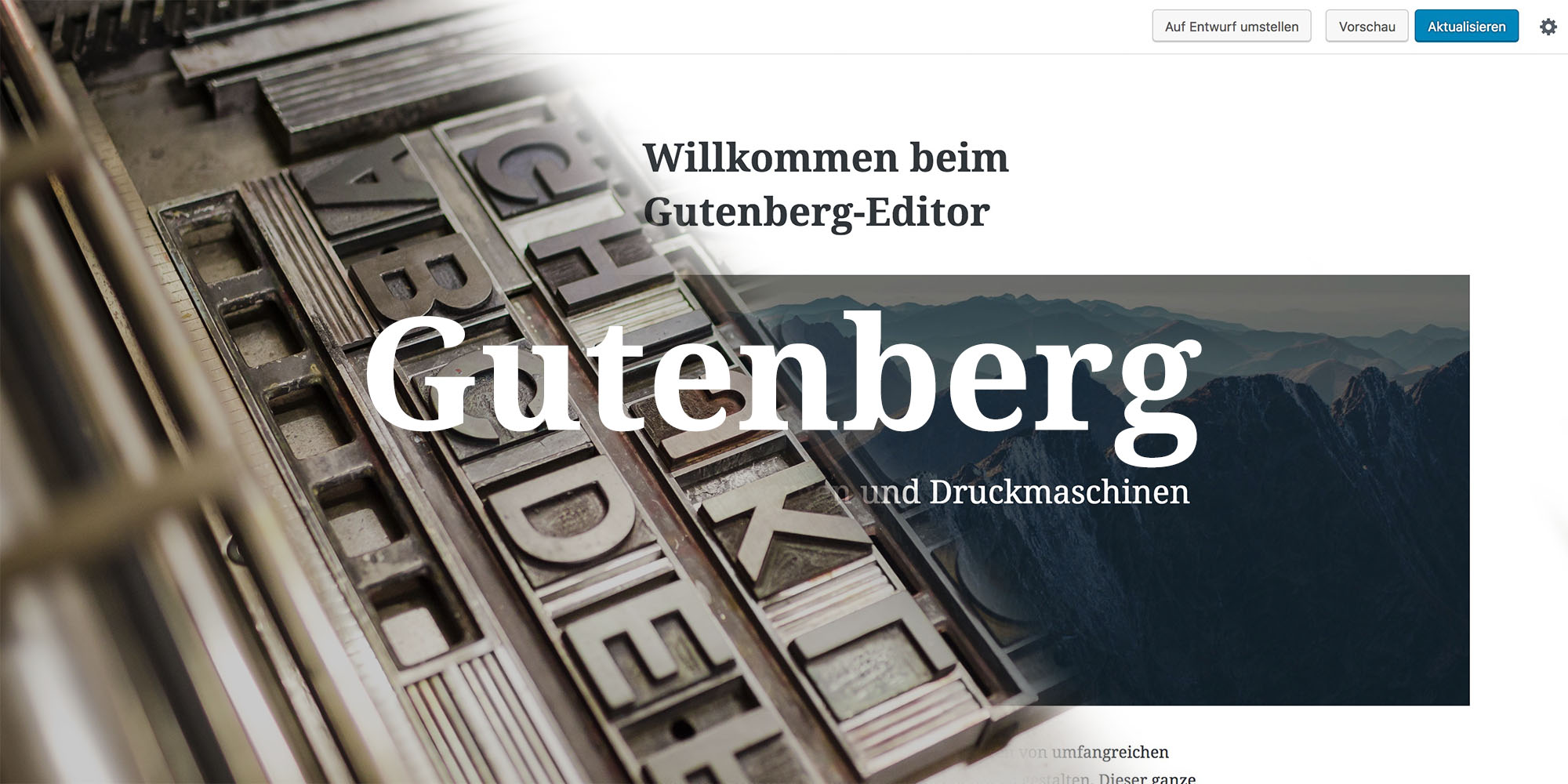 Gutenberg WordPress-Editor