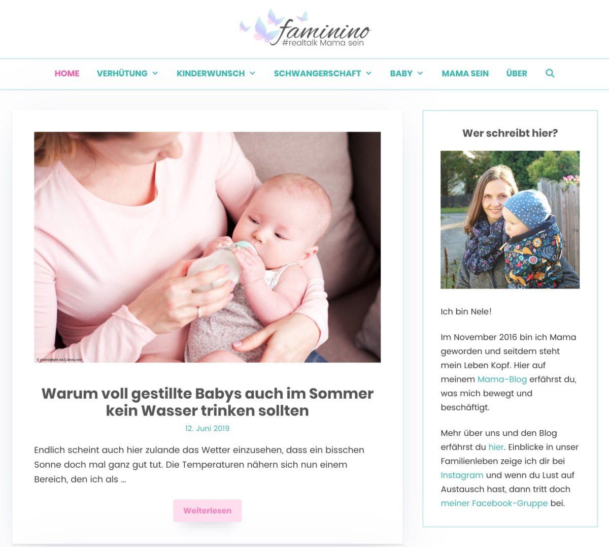 Beispiel für eine Homepage mit den neusten Blogartikeln
