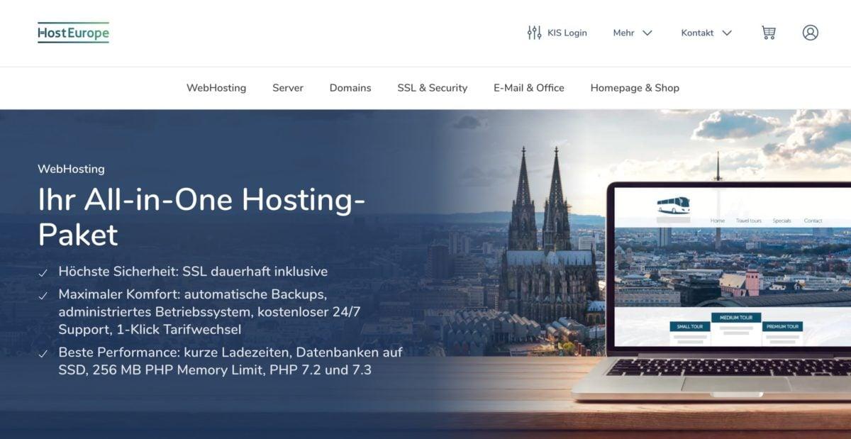 HostEurope Webhosting