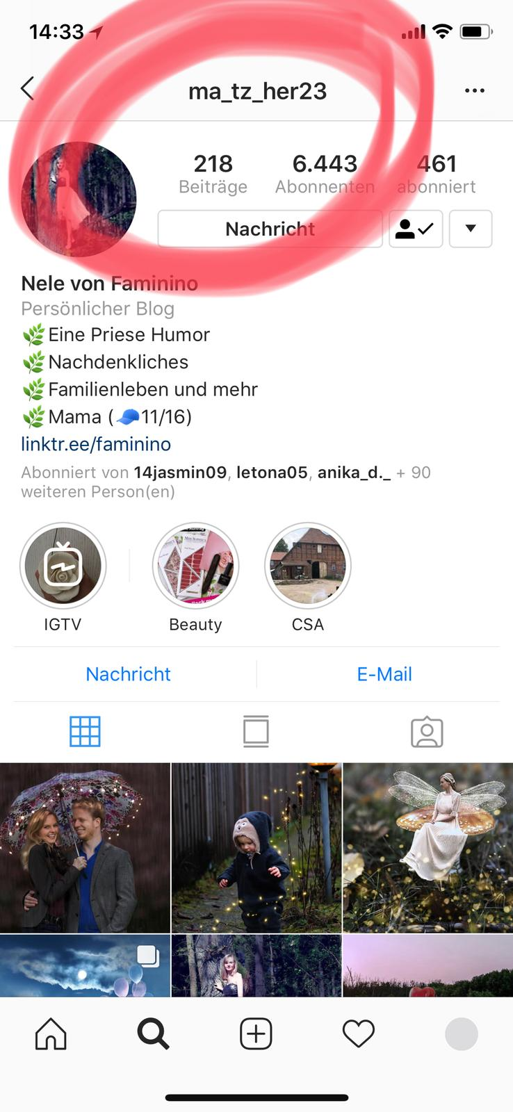 Instagram-Account gehackt
