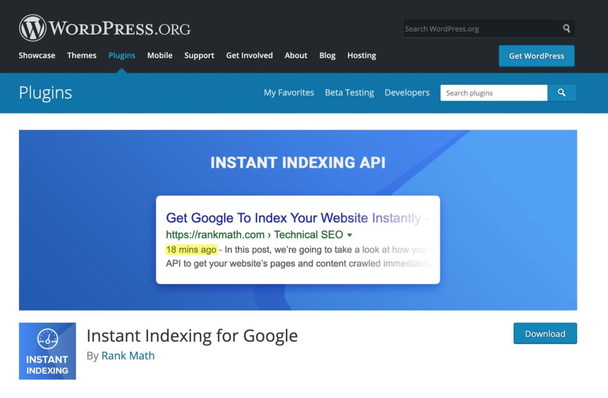 Instant Indexing for Google