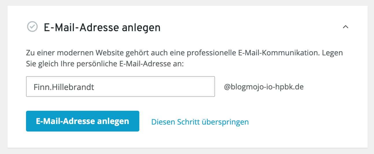 Du kannst beim IONOS Homepage-Baukasten einfach und schnell eine neue E-Mail-Adresse anlegen