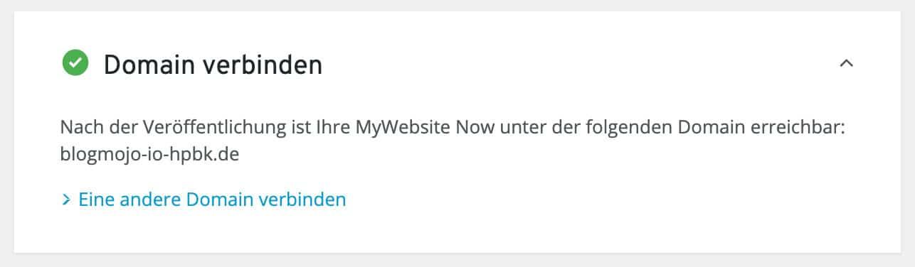 Du kannst sehr einfach und schnell eine Domain mit dem IONOS Homepage-Baukasten verbinden