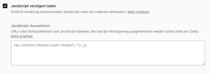 JavaScript verzögert laden mit WP Rocket