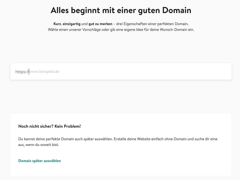Du kannst bei Jimdo ein Domain sehr schnell verknüpfen