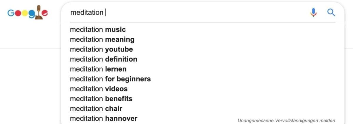 Keyword-Ideen finden mit Google Suggest