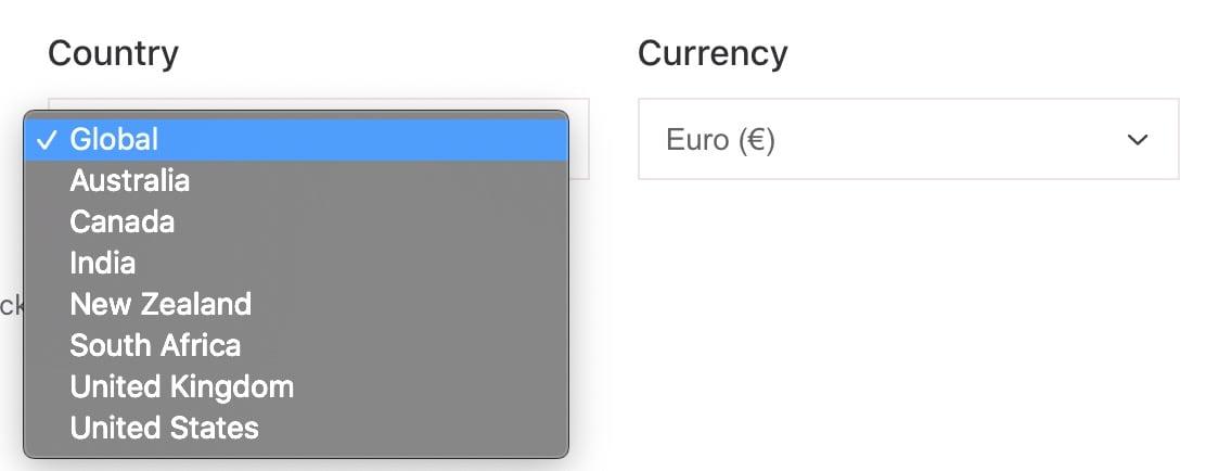 Diese Länder unterstützt Keywords Everywhere