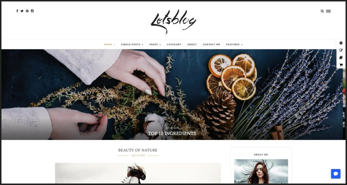 Lets Blog WordPress Blog-Theme