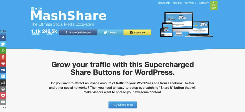 Mashshare ist ein tolles Social Media Plugin, das du durch viele Erweiterungen an deine Wünsche anpassen kannst