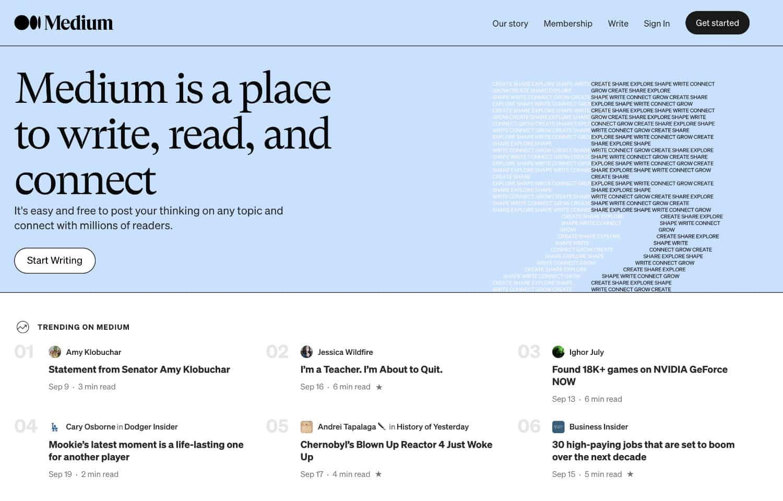 Medium ist eine Plattform, mit der du Gedanken und Geschichten veröffentlichen kannst