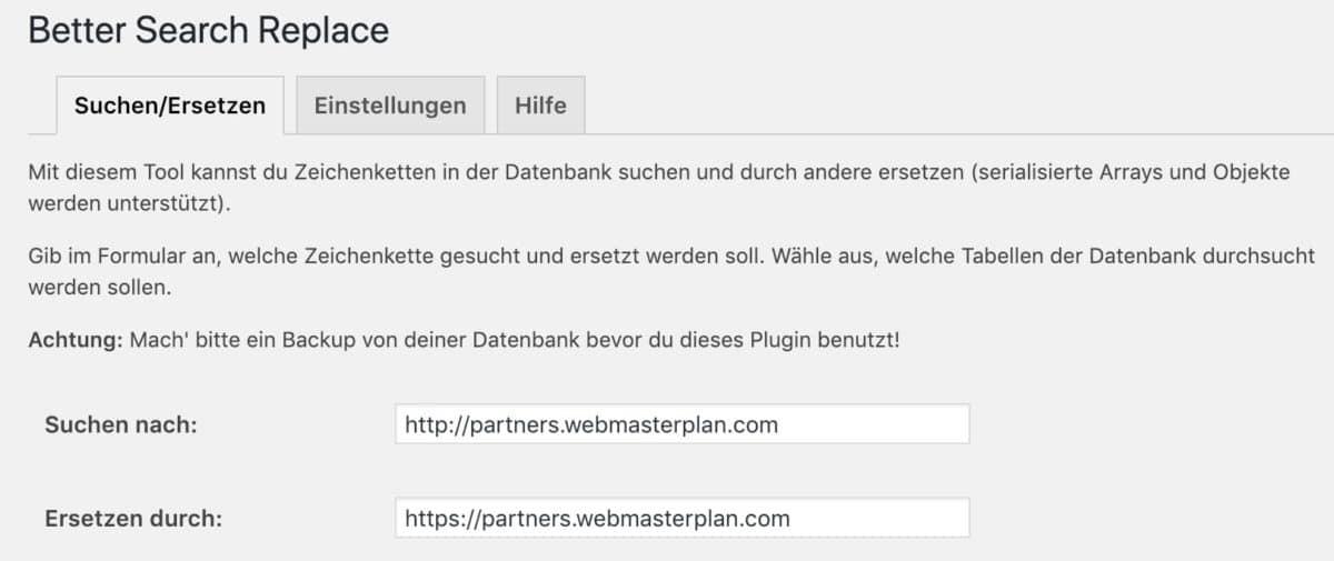 Basculer vers SSL avec une meilleure recherche Remplacer les liens d'affiliation